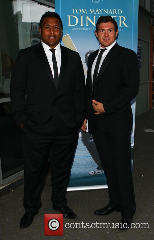 Maku Vunipola and Alex Goode 2