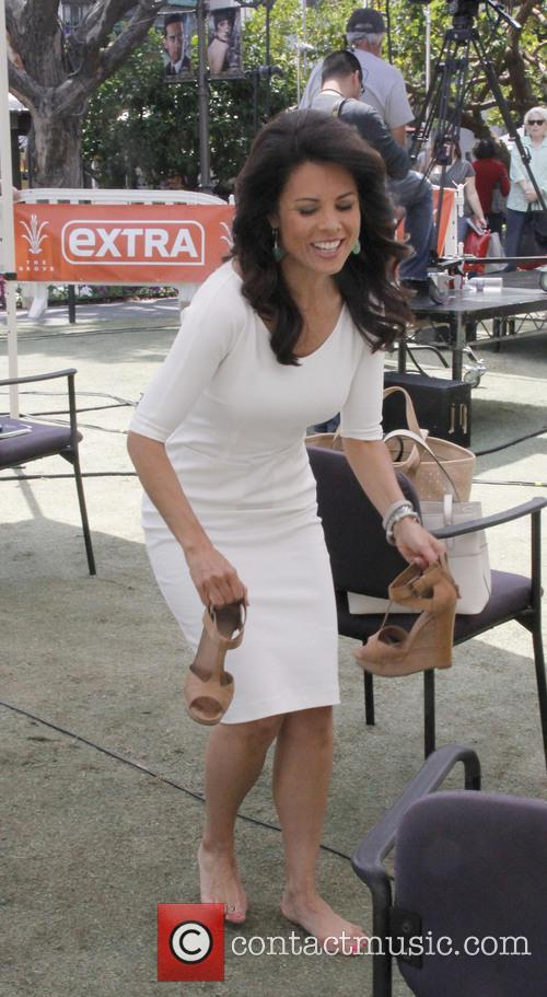 Celebrities at The Grove for television show 'Extra'
