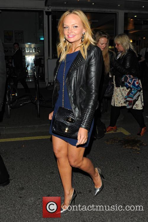 Celebrities leaving Celebrity Juice at Riverside studios in...