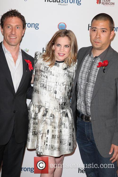 Zach Iscol, Anna Chlumsky, Shaun So (husband), IAC HQ 555 west 18th Street NYC