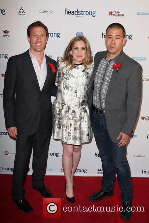Zach Iscol, Anna Chlumsky and Shaun So (husband) 5