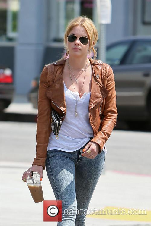 Ashley Benson leaving Toast