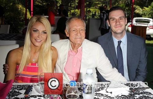 Crystal Hefner, Hugh Hefner and Cooper Hefner 5