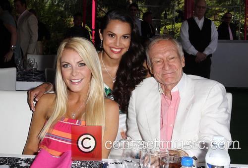 Crystal Hefner, Raquel Pomplun and Hugh Hefner 9