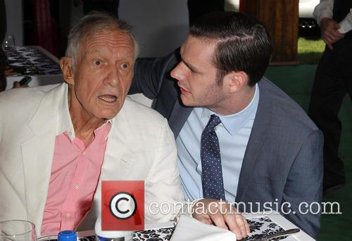 Hugh Hefner and Cooper Hefner 5