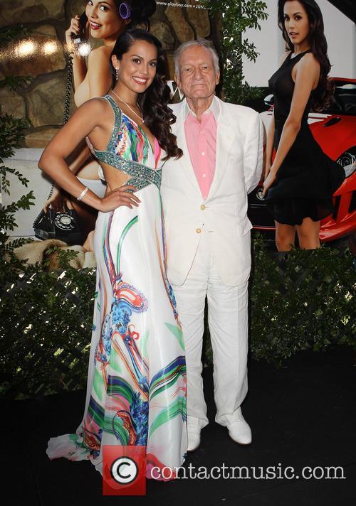 Raquel Pomplun and Hugh Hefner 1