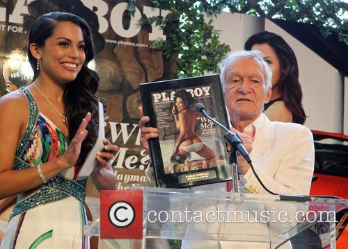 Raquel Pomplun and Hugh Hefner 2