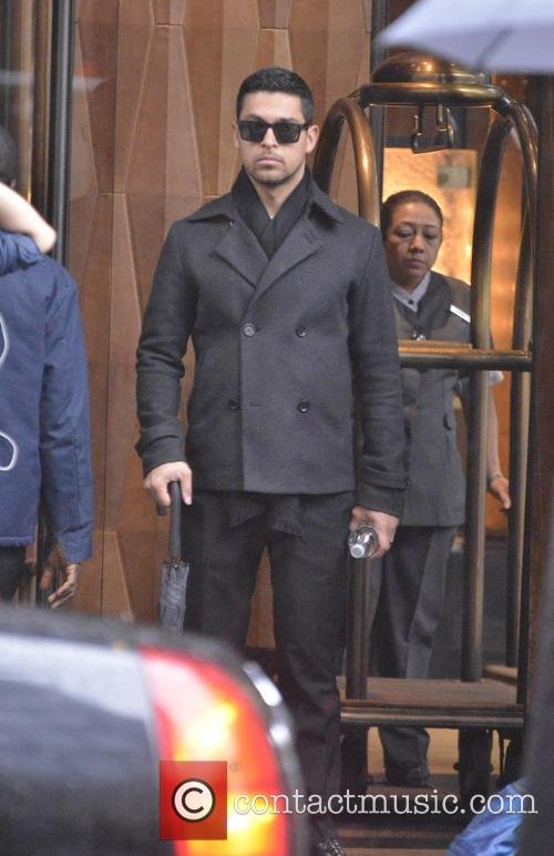wilmer valderrama celebrities out during a rainy 3654462