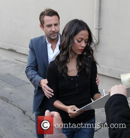 Zoe Saldana at Jimmy Kimmel Live