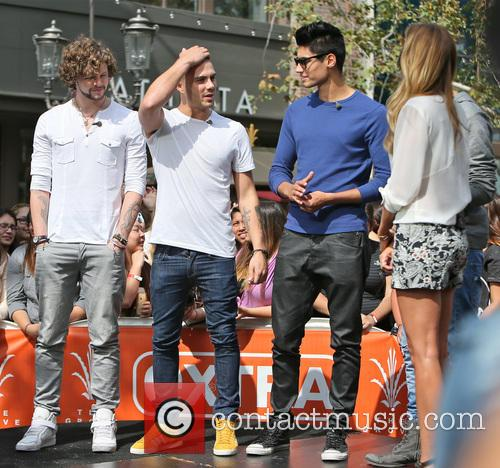 Siva Kaneswaran, Jay Mcguiness, Max George and Renee Bargh 11