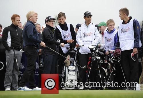 Rob Brydon, Gordon Strachan, Gethin Jones and Craig Strachan 5