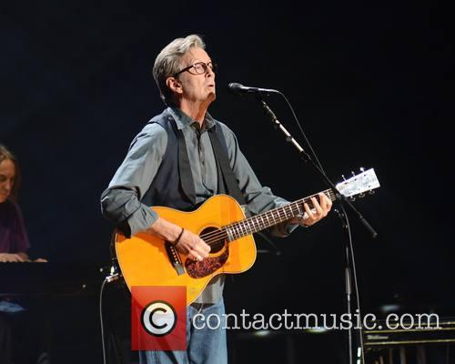 Eric Clapton performing at the O2
