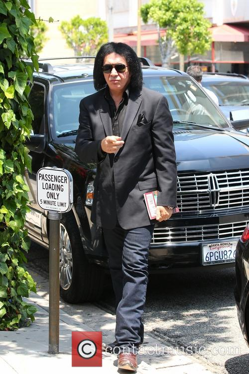 Gene Simmons arrives at The Ivy