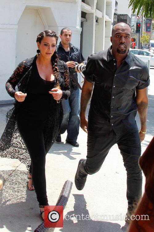 Kim Kardashian, Kanye West, Beverly Hills