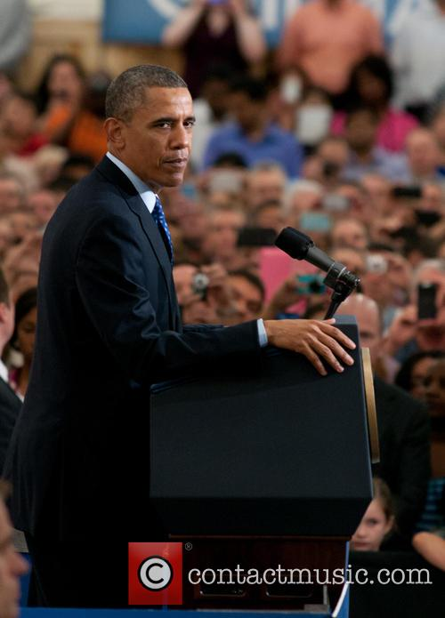 President Barack Obama delivers a speech at Applied Materials