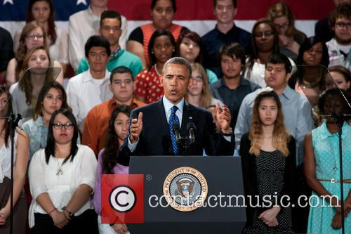 President Barack Obama delivers a speech at Manor...