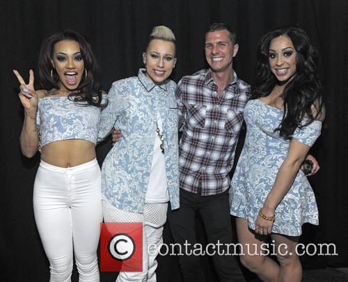 Stooshe and Tish Smith performing at G-A-Y