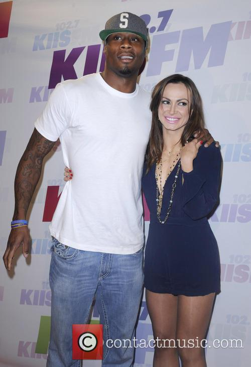 Karina Smirnoff and Kerry Rhodes 2