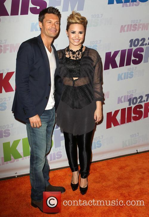 Demi Lovato and Ryan Seacrest 2