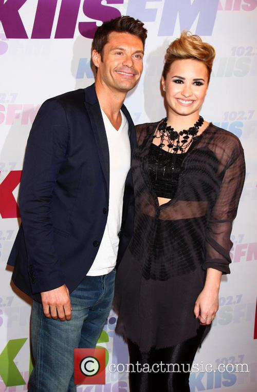 Ryan Seacrest and Demi Lovato 6