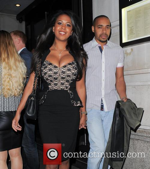 TOWIE's Danni Park-Dempsey leaving Novikov in Mayfair with...