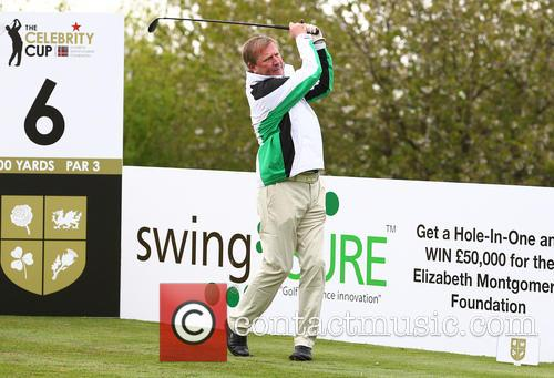 Celebrities compete in the Celebrity Cup Golf Tournament