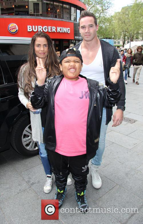 Katie Price, Kieran Hayler and Harvey Price 2