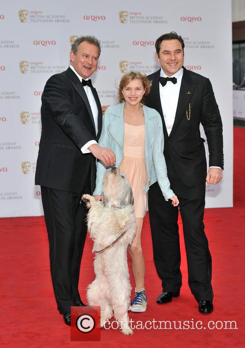 Tayla Butler, David Walliams and Hugh Bonneville 2