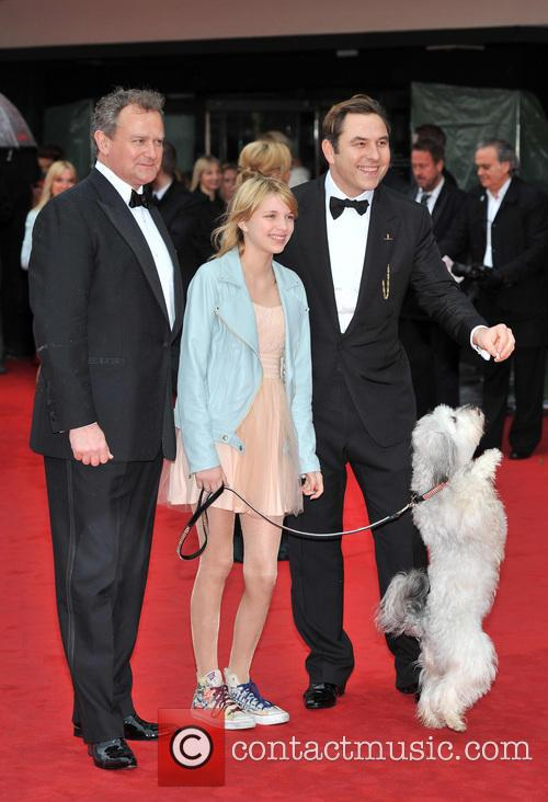 Tayla Butler, David Walliams and Hugh Bonneville 1