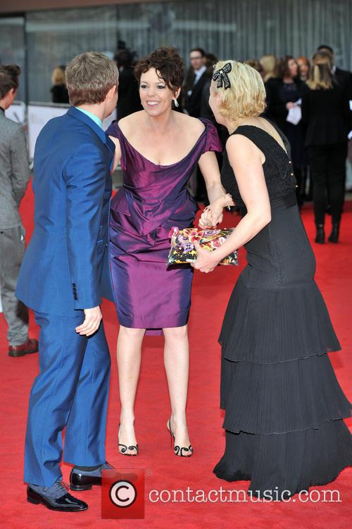 Marton Freeman, Olivia Colman and Amanda Abbington