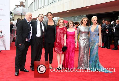 Cliff Parisi, Ben Caplan, Miranda Hart, Laura Main, Bryony Hannah and Helen George