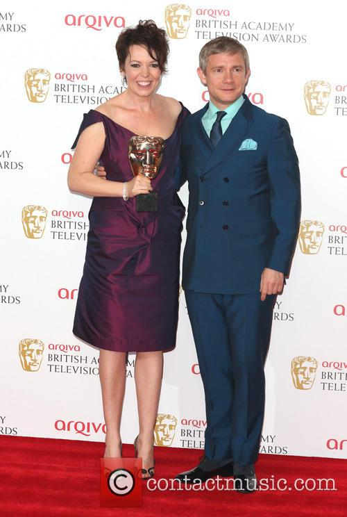Olivia Colman and Martin Freeman 6