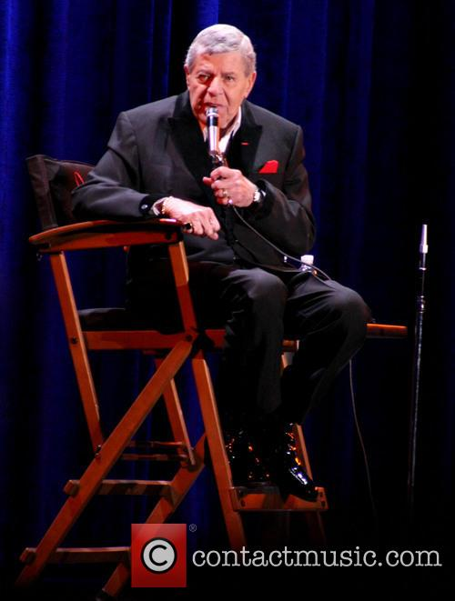 Jerry Lewis attends a Q+A session