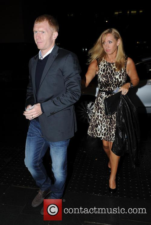 Manchester United, Paul Scholes and Claire Scholes