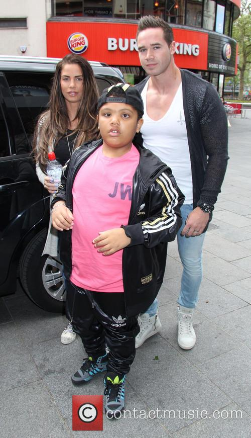 Katie Price, Kieran Hayler and Harvey Price 5