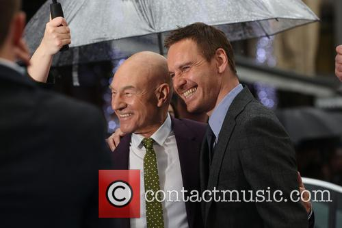Sir Patrick Stewart and Michael Fassbender 3
