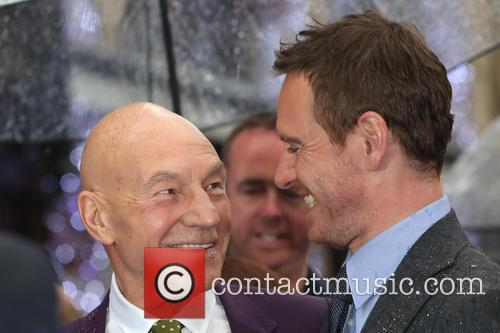Michael Fassbender and Sir Patrick Stewart 2