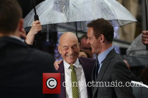 Michael Fassbender and Sir Patrick Stewart 4