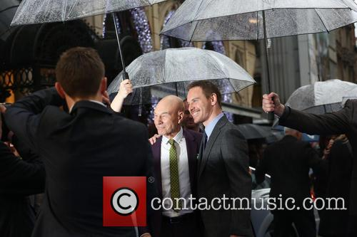 Michael Fassbender and Sir Patrick Stewart 11