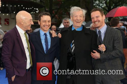 Sir Patrick Stewart, James Mcavoy, Ian Mckellen and Michael Fassbender 4