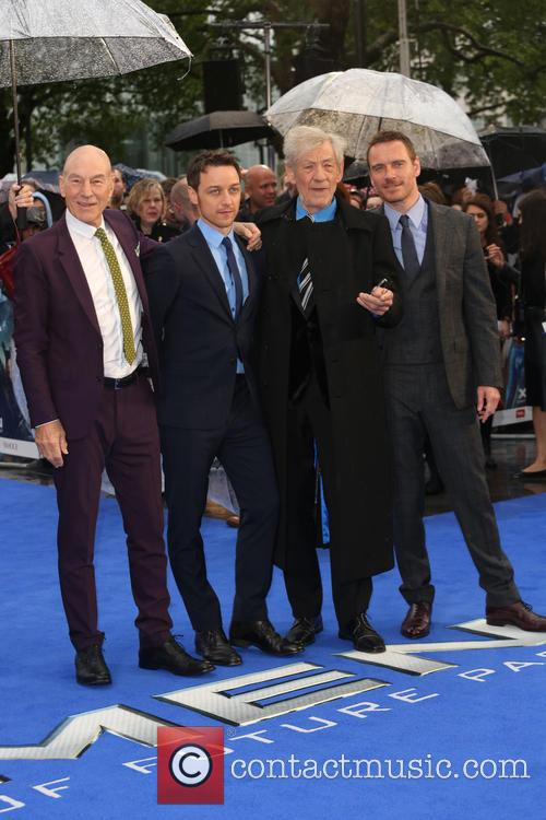 Sir Patrick Stewart, James Mcavoy, Ian Mckellen and Michael Fassbender 5