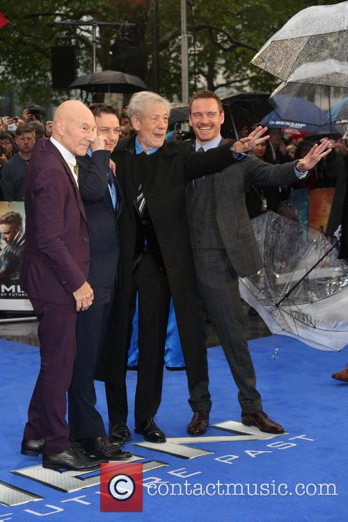 Sir Patrick Stewart, James Mcavoy, Ian Mckellen and Michael Fassbender 6