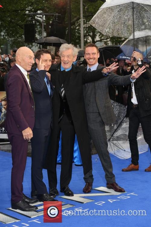 Sir Patrick Stewart, James Mcavoy, Ian Mckellen and Michael Fassbender 7