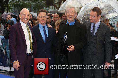 Sir Patrick Stewart, James Mcavoy, Ian Mckellen and Michael Fassbender 9