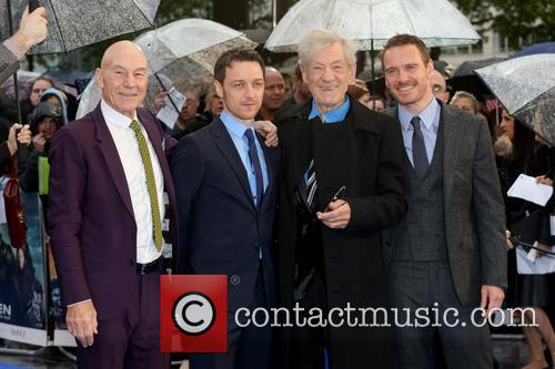 Sir Patrick Stewart, James Mcavoy, Ian Mckellen and Michael Fassbender 1