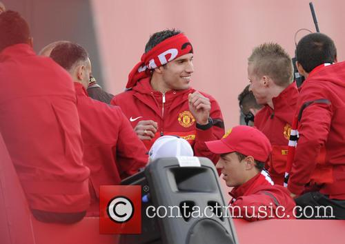 Manchester United, Robin Van Persie and Jonny Evans 3