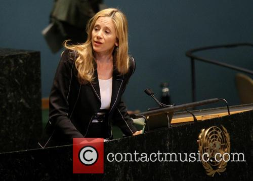 Mira Sorvino, speaking at the 67th Session of...