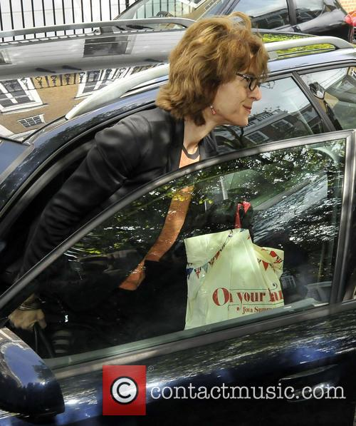 Vicky Pryce arrives home having been released early...