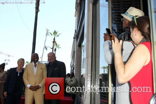 Ellen DeGeneres, Steve Harvey, Dr. Phil McGraw, Samuel L. Jackson, On The Hollywood Walk Of Fame