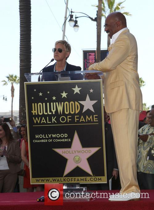 Ellen DeGeneres and Steve Harvey 5